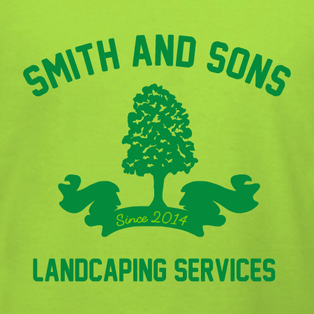 Lanscaping Banner With Tree T Shirt