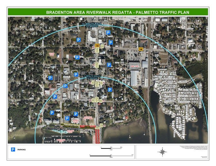 Parking Map Palmetto Side River Walk Regatta City Photo