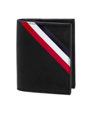 diagonal stripe double card holder black thom browne men pinterest thom browne leather and card holder - Thom Browne Card Holder