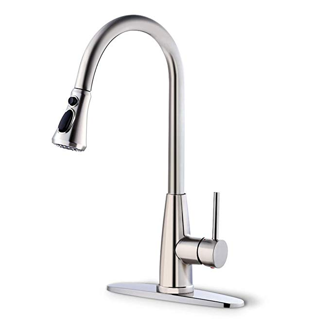 Achiotely Kitchen Faucets With Pull Down Sprayer 3 Modes Kitchen