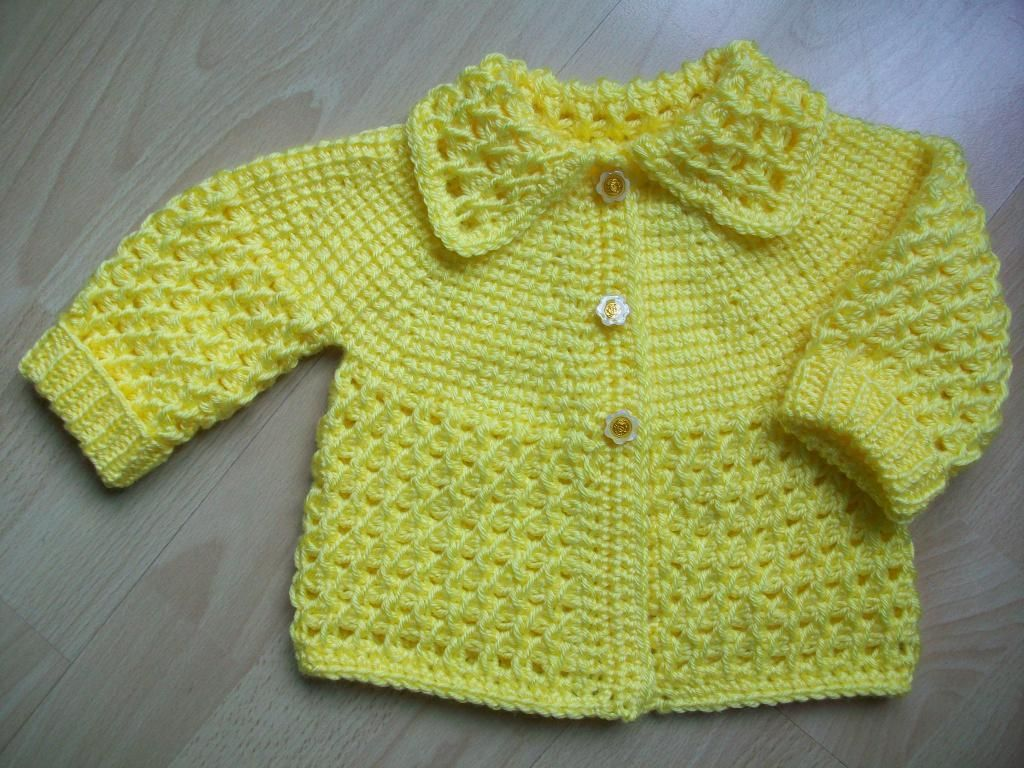 3 yellow tunisian crochet baby sweater tunisian crochet baby 3 yellow tunisian crochet baby sweater bankloansurffo Image collections