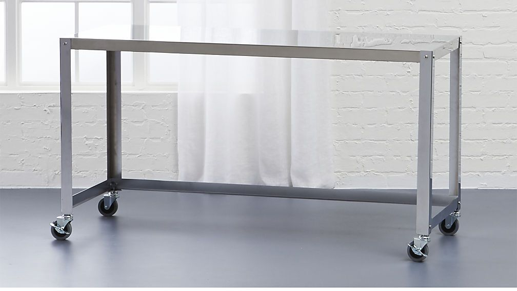 go-cart stainless rolling console table | console tables, tables