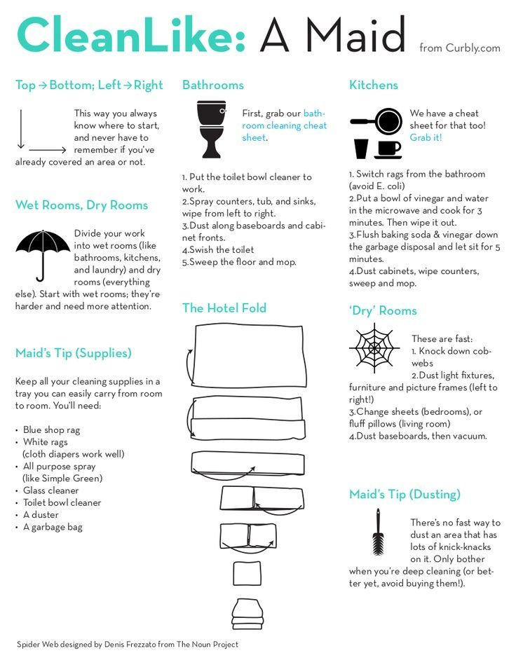 Free Download How To Clean Like A Maid Cheat Sheet