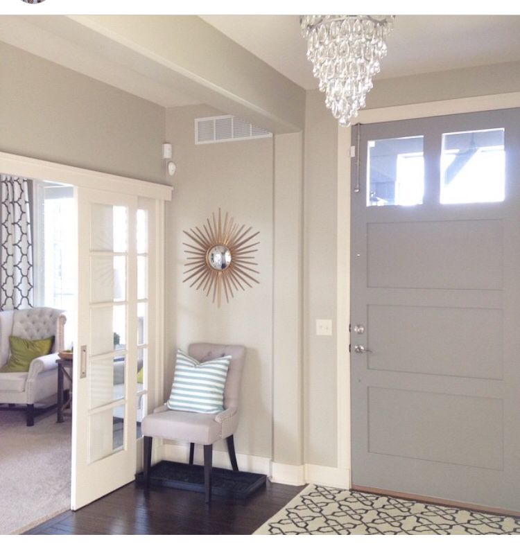 Inside Front Door Color Elephant Skin By Behr Sliding French Doors