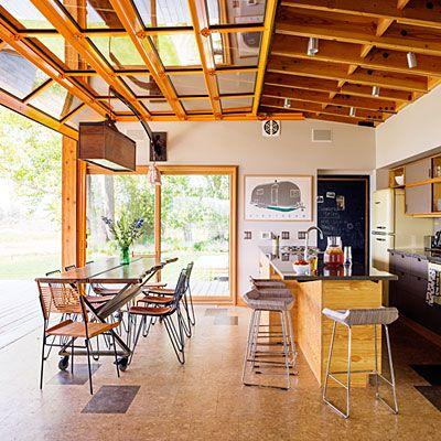 Renewable and reclaimed materials soften modern feel