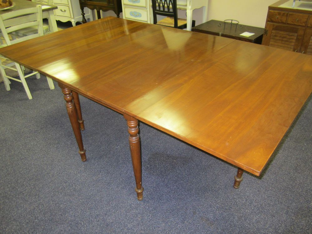 antique solid cherry drop leaf dining table. harden cherry drop leaf swing leg dining table - wow! antique solid cherry drop leaf dining table