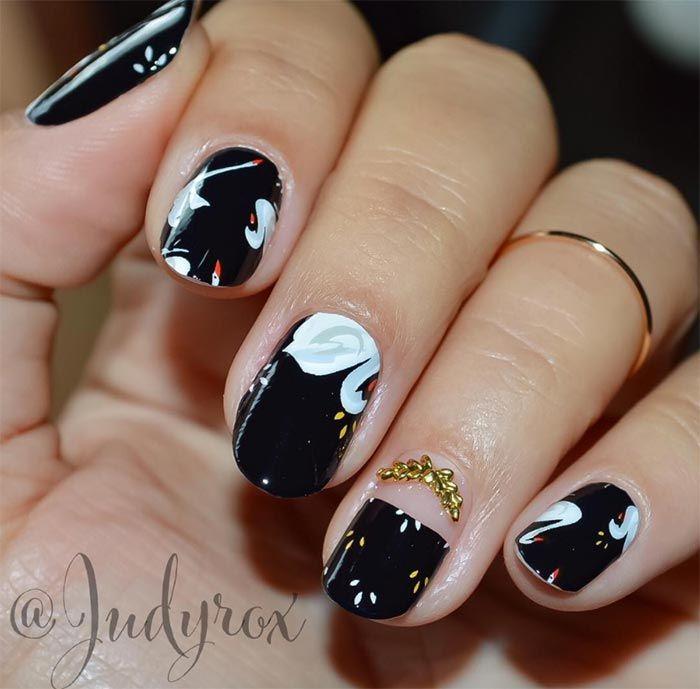 Classy Nail Art Designs for Short Nails   newnails   Pinterest ...