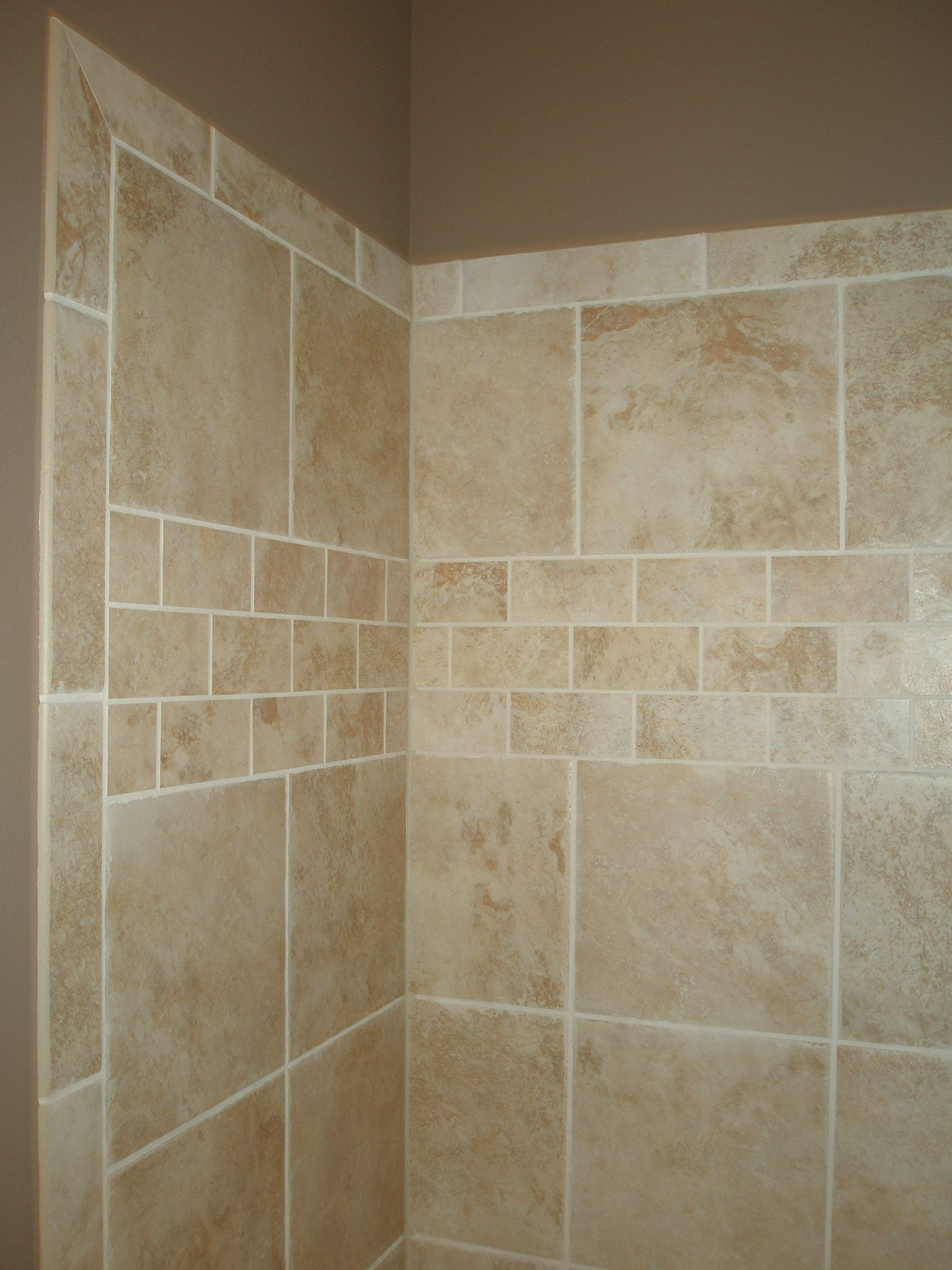 Almost exact to what i will do in the shower without the for Unique bathroom tile designs