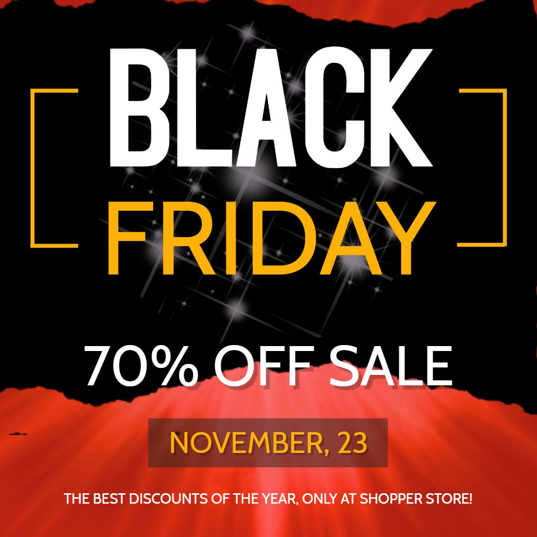 Black Week Sale Black Friday Online Sale Advertisement Template Black Friday