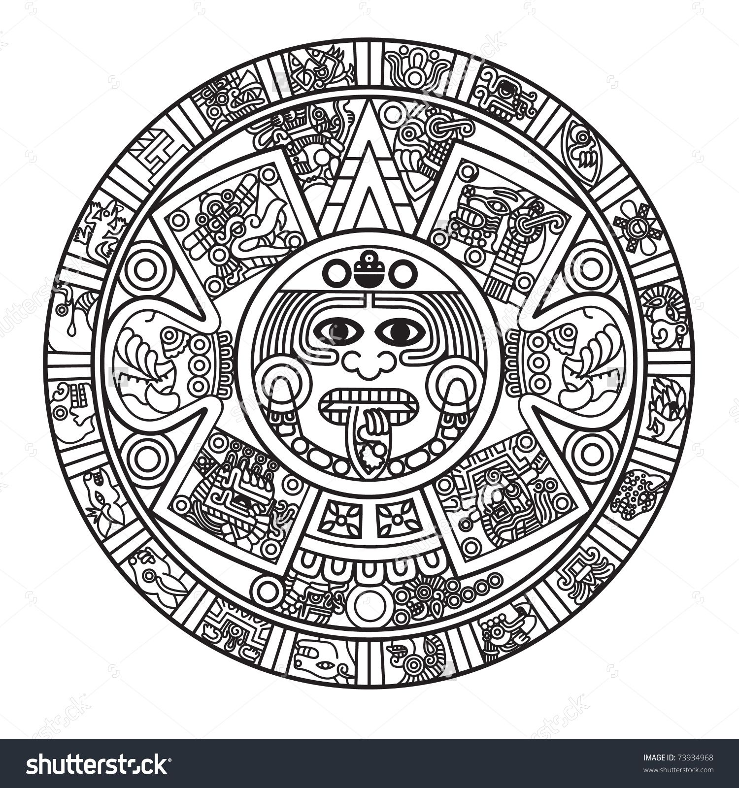 Calendar Art Meaning : Aztec drawings and meanings imgkid the image