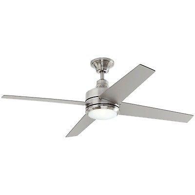 Ceiling Fans 176937 Home Decorators 54725 Mercer 52 In Led Indoor Brushed Nickel Ceiling Fan