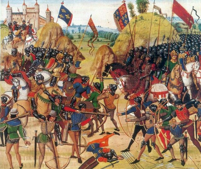 [Hundred Years' War] Battle of Crécy, illuminated