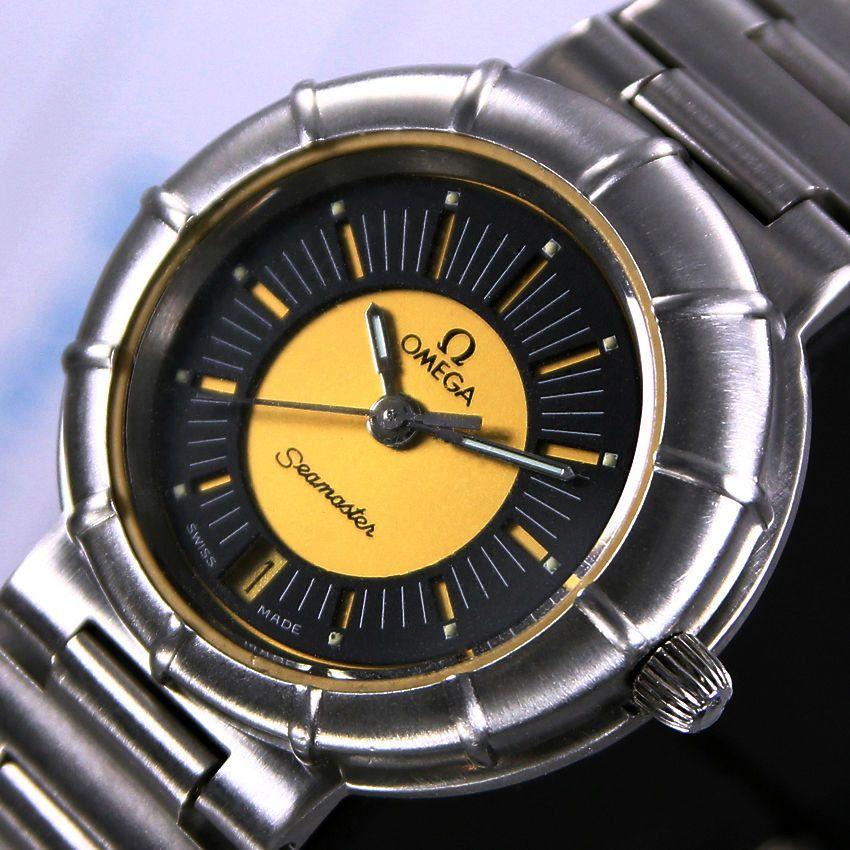 217cdaa0a4b Vintage Omega Seamaster Dynamic Spider Quartz Two tone Dial Date Women s  Dress Watch by LKWatch on Etsy