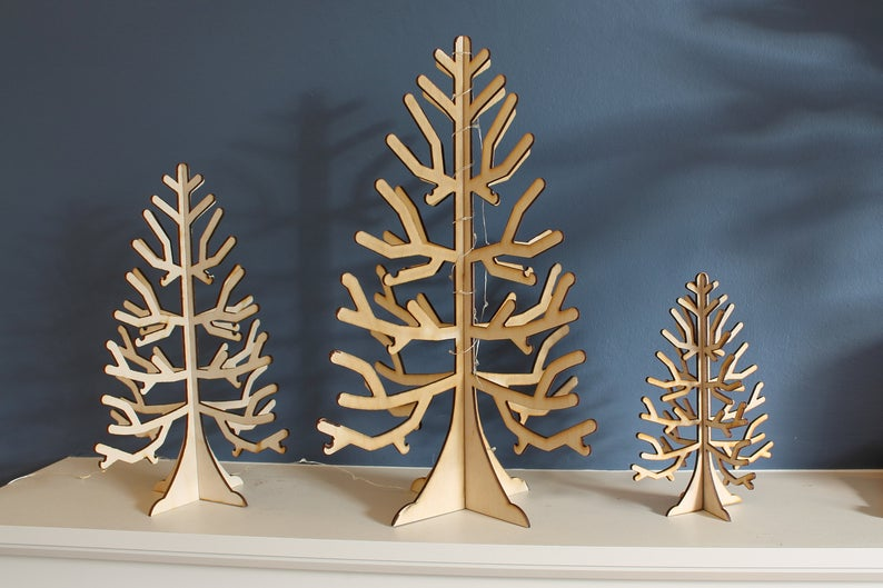 Wooden Christmas Tree Craft Display Table Decoration Etsy Wooden Christmas Trees Craft Table Display Christmas Tree Crafts
