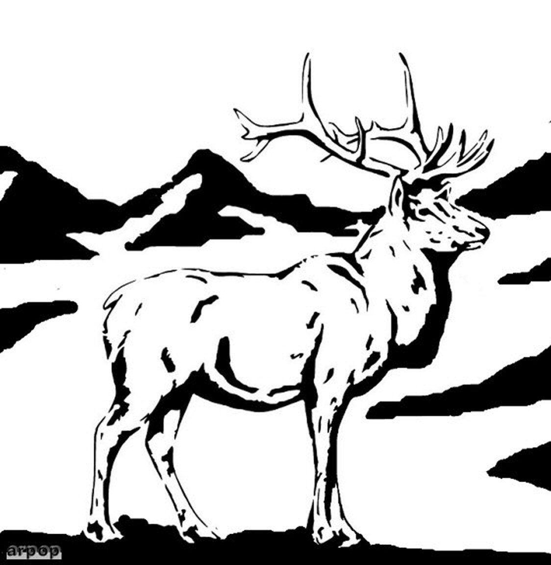 Free Scroll Saw Patterns by Arpop: Elk Scroll Saw Pattern