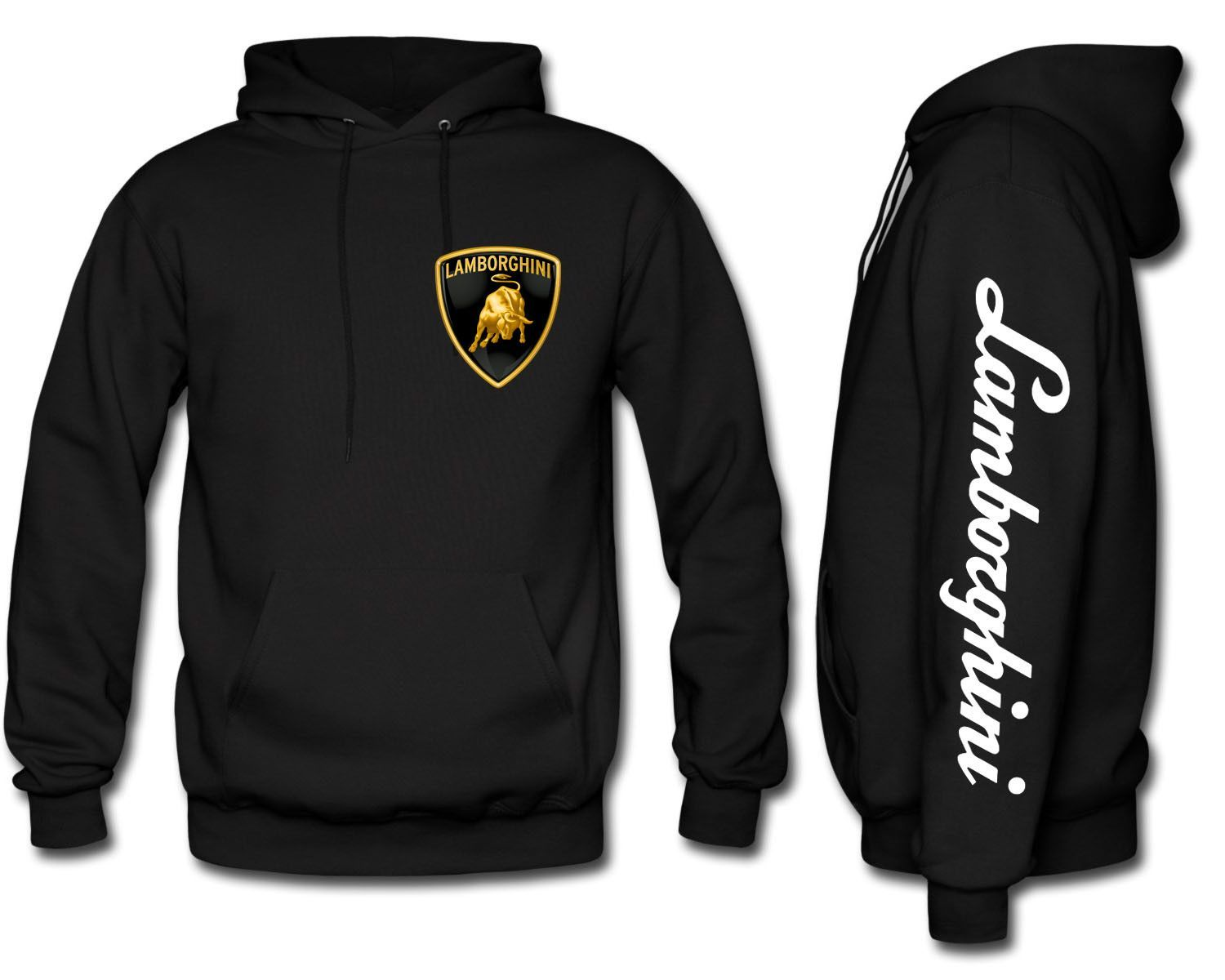 Lamborghini Kids Zip-up Hoodie White Unisex Clothing