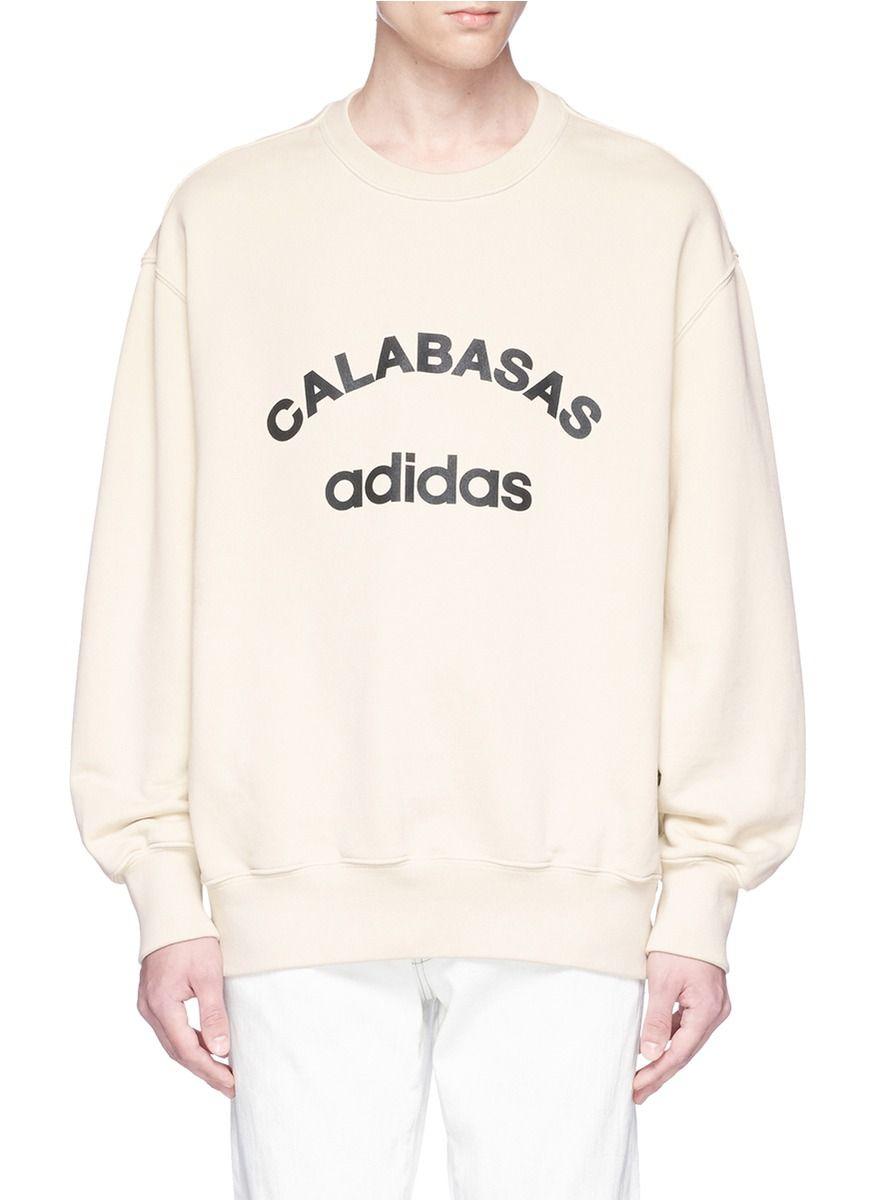 YEEZY 'Calabasas' logo print oversized sweatshirt. #yeezy