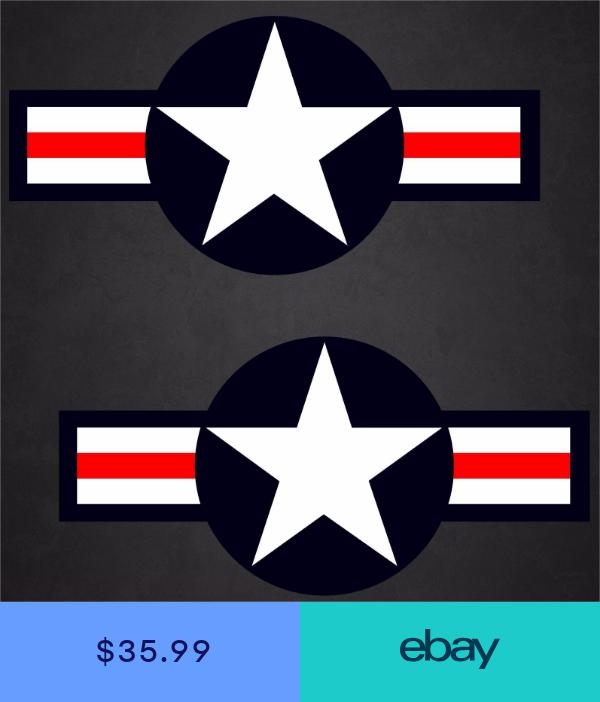 2 10x20.5 USAF Aircraft Insignia Sticker Military Decal