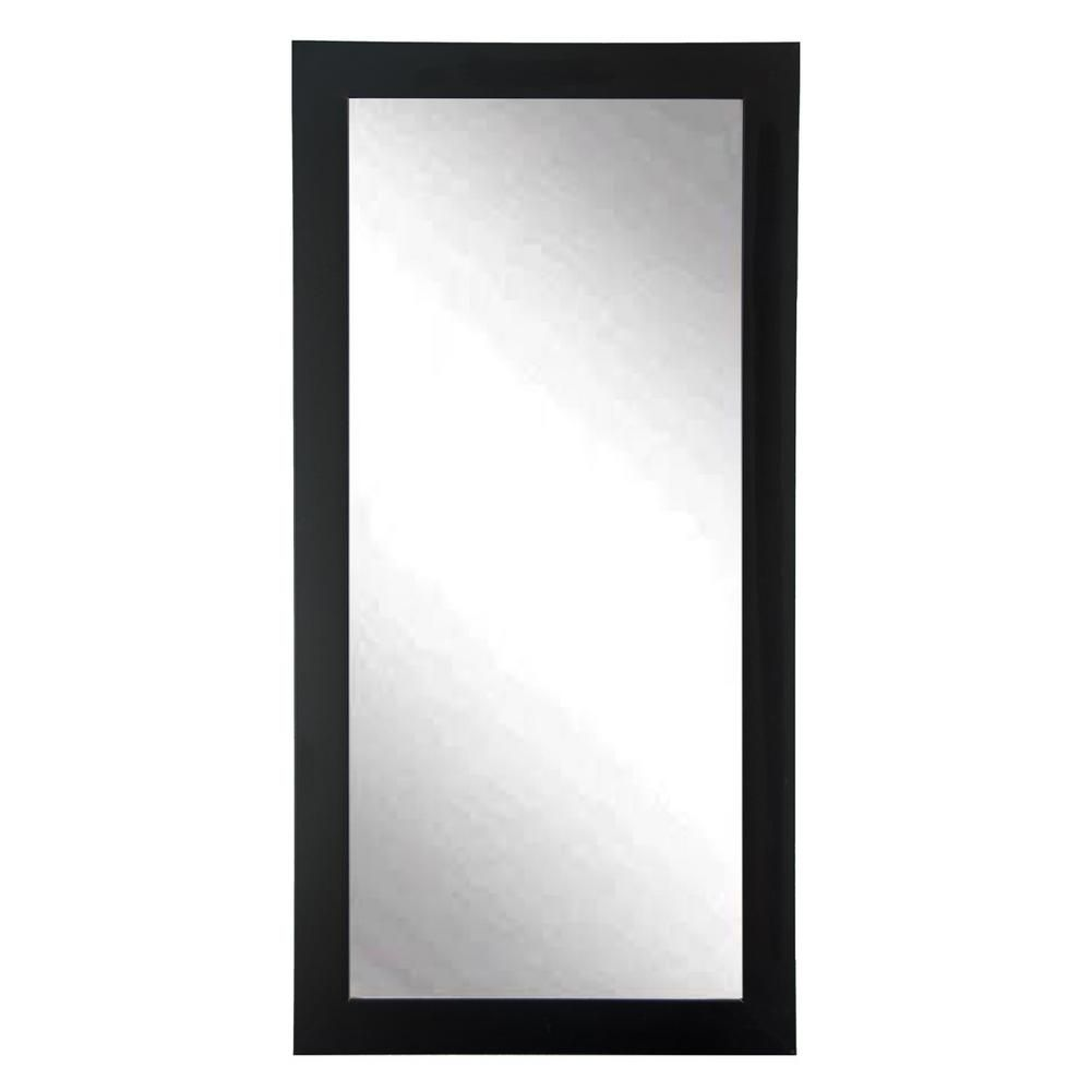 Brandtworks Modern Matte Black Tall Framed Mirror Floor Mirror