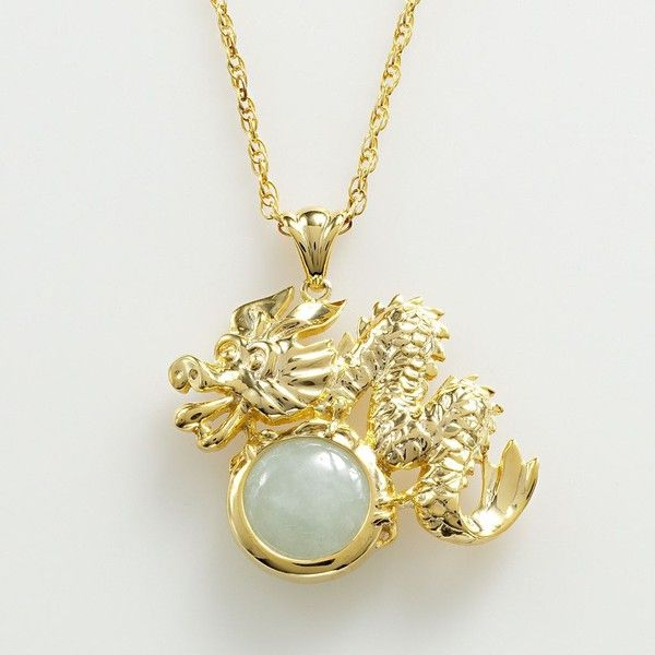 18k gold over silver jade dragon pendant green 98 liked on 18k gold over silver jade dragon pendant green 98 liked aloadofball Image collections