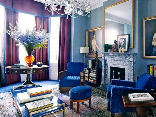 Bon Cool Gorgeous Blues And Purples Combine To Make A Statement   Jewel Tone  Interior Decorating