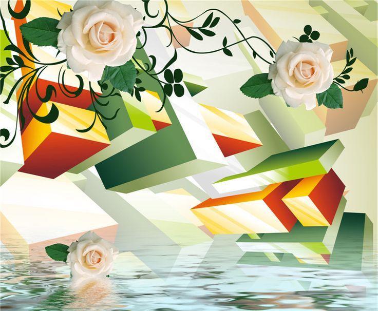 Angemessener Preis 3D Wallpaper Blumenmuster für Tapeten