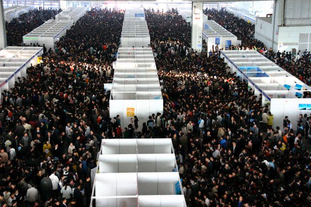 China - Economy - College Students at Job Fair | Education and