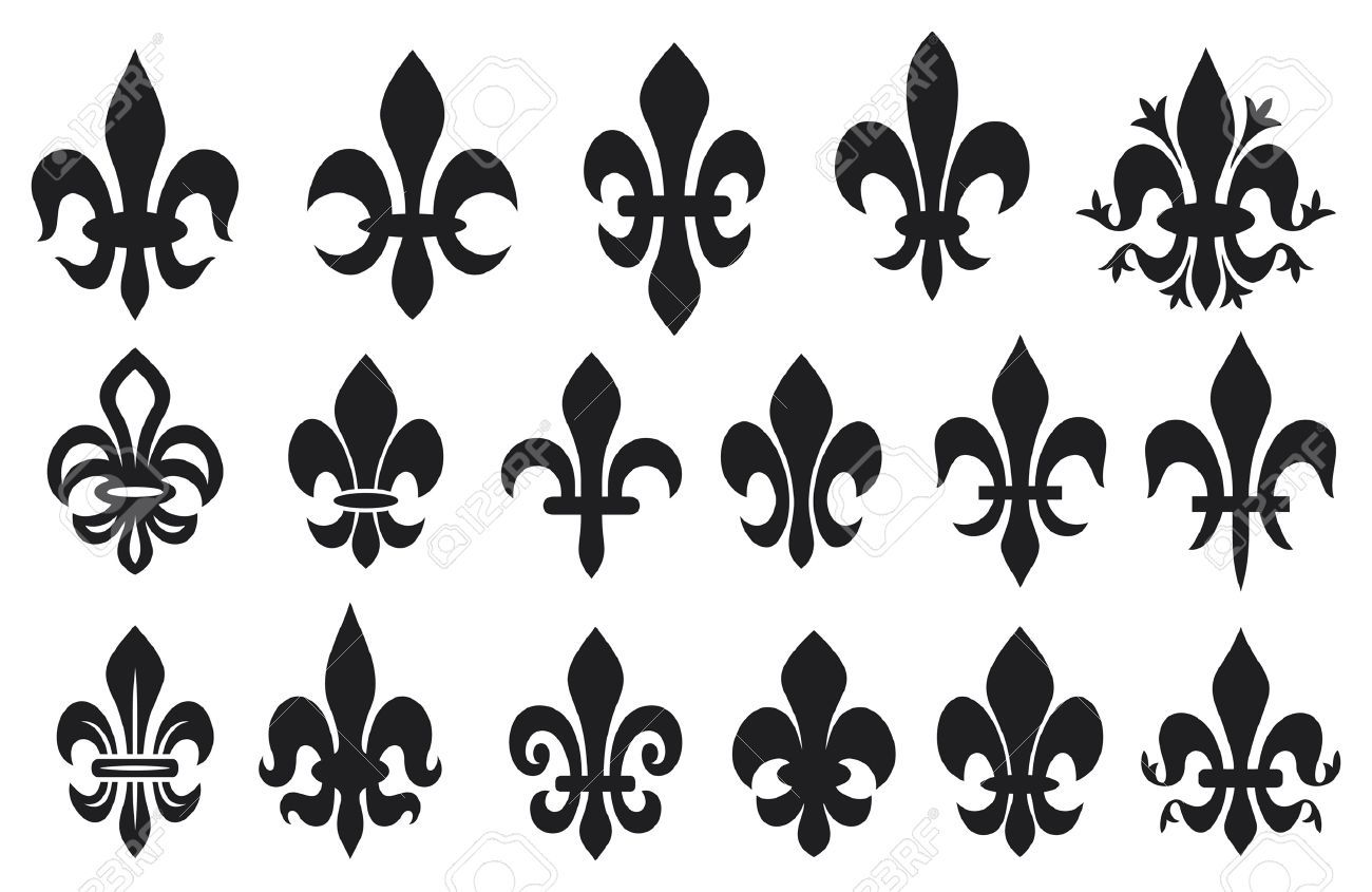 14836300 lily flower heraldic symbol fleur de lis royal french lily lily flower heraldic symbol fleur de lis royal french lily symbols for design and decorate lily flowers collection lily flowers set izmirmasajfo