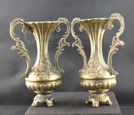 Small Decorative Urns Shopgoodwill 2 Decorative Small Brass Urns  Goodwill Finds