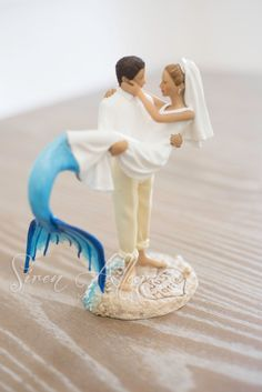 Mermaid Wedding Cake Topper By SirenAllure On Etsy