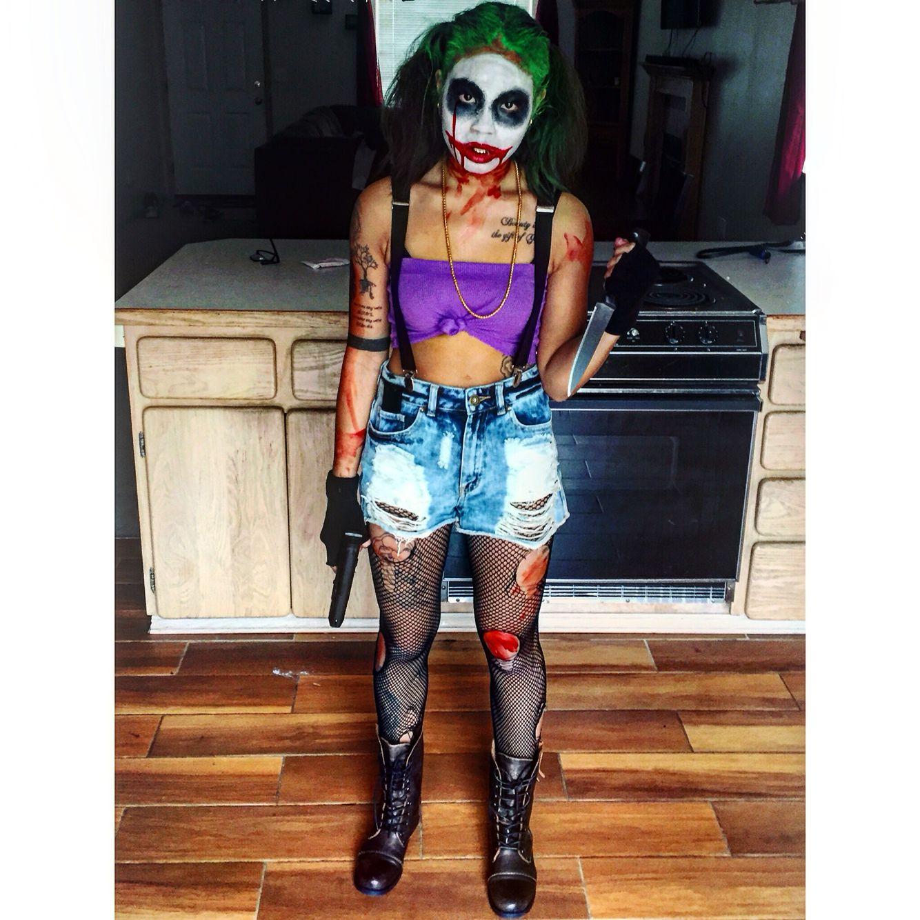 Halloween makeup female joker - Halloween | Pinterest - Ideeën