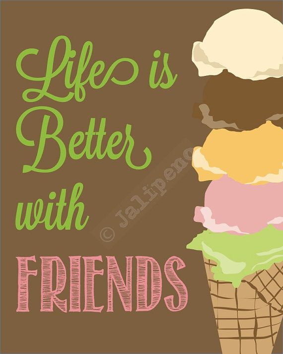 Life Is Better With Friends Instant Download Printable 5x7