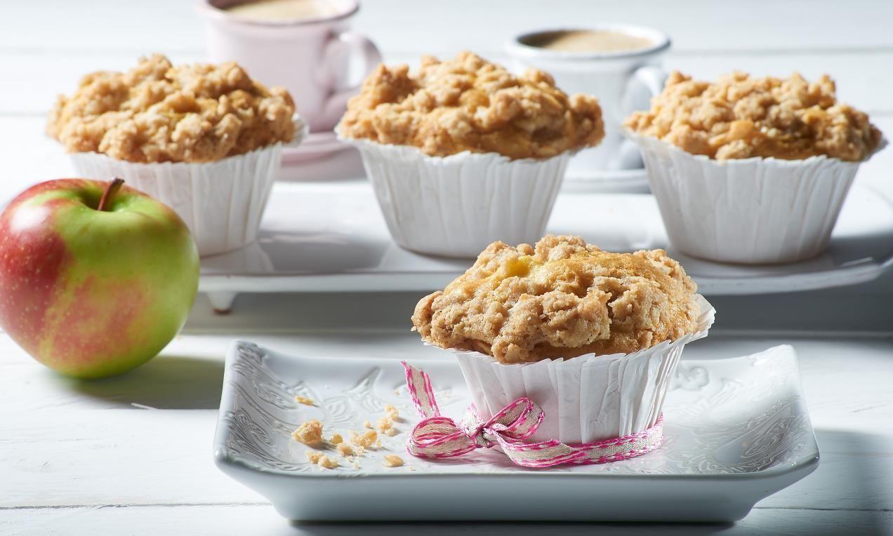 Vegane Apfel-Knusper-Muffins Rezept   Dr. Oetker