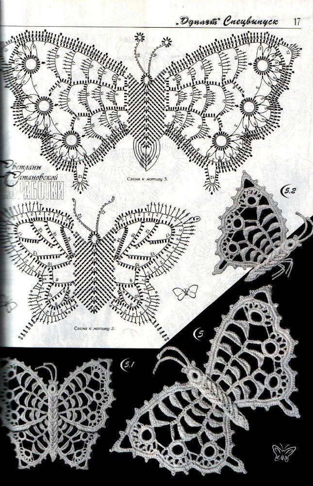 irish crochet butterfly | Irische Häkelei / irish crochet ...