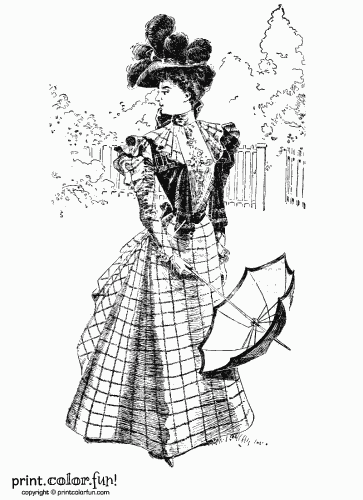 Victorian Era Coloring Pages Dresses