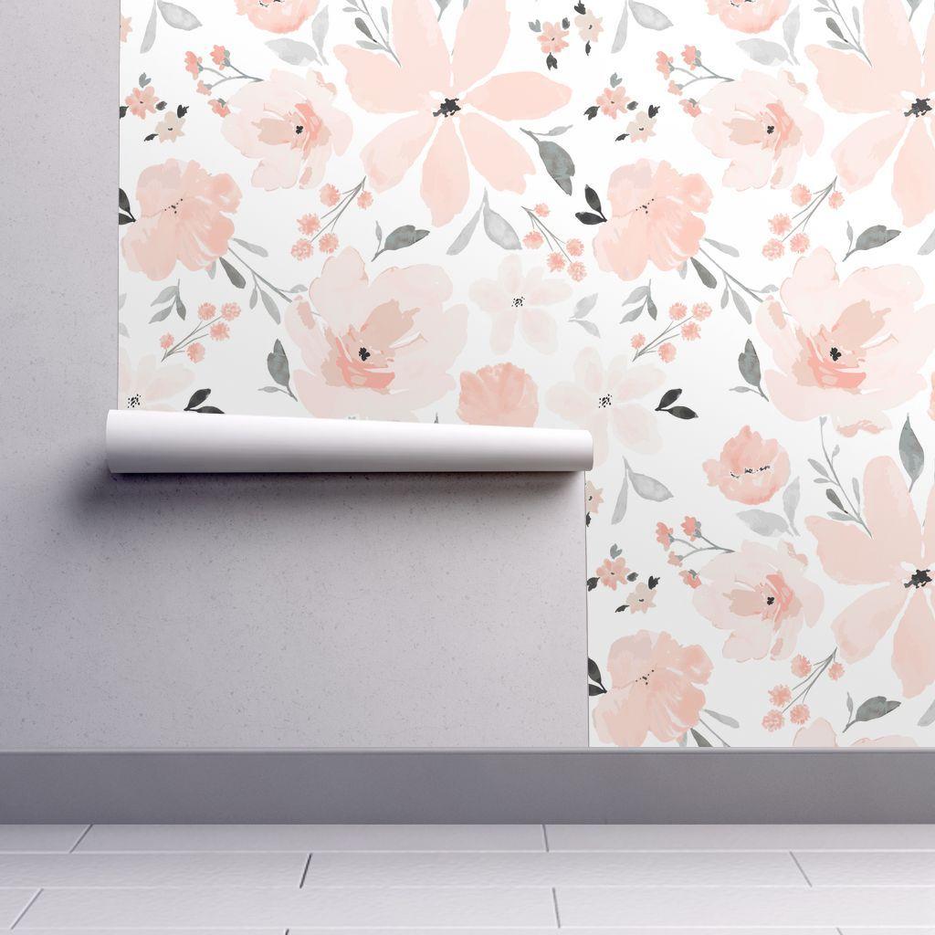 Ibd Gracie Grace Jumbo Peel And Stick Wallpaper Nursery Wallpaper Floral Wallpaper