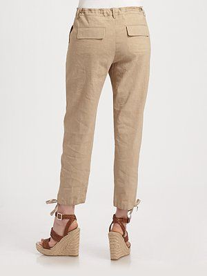 Drawstring pants & cute sandals
