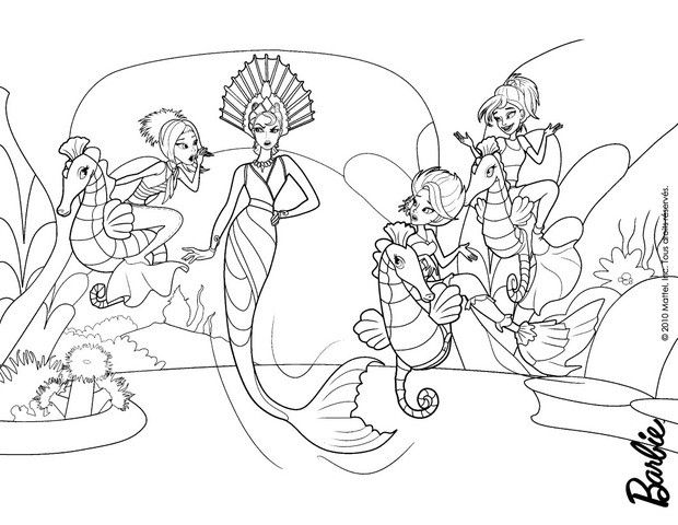 BARBIE in A MERMAID TALE coloring pages : 61 online Mattel dolls ...