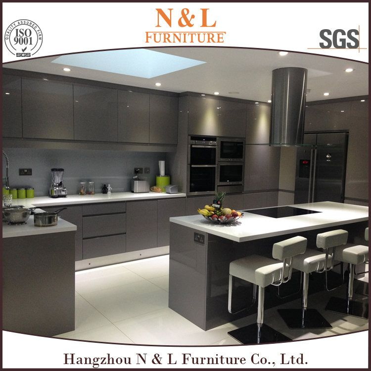 Modern Gloss, Satin Paint Wooden Home Painting Kitchen Cabinets ...