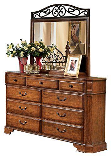 Best Ashley Furniture Signature Design Anarasia Dresser Mirror 6 Drawer Bureau White 640 x 480