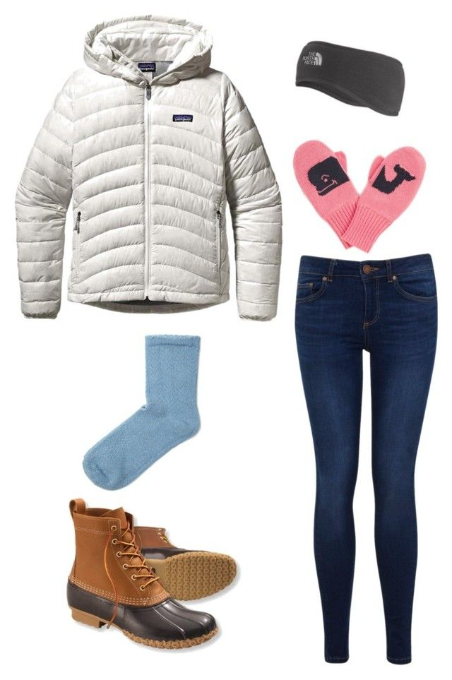"""Let It Snow!"" by zoeantonpeat ❤ liked on Polyvore featuring Patagonia, Miss Selfridge, L.L.Bean, The North Face, SELECTED, Vineyard Vines, preppy, Prep, snowday and southernprep"