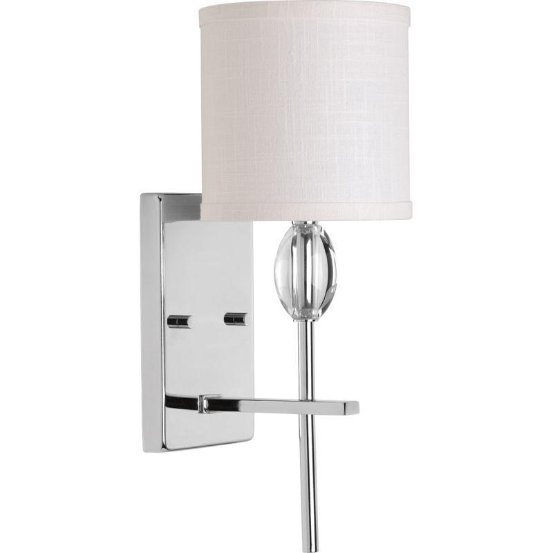 Progress Lighting P Status Light Bathroom Wall Sconce With - Bathroom sconce with fabric shade