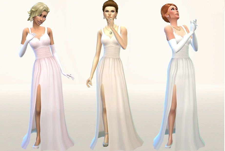 Wedding Dresses Legs Showing