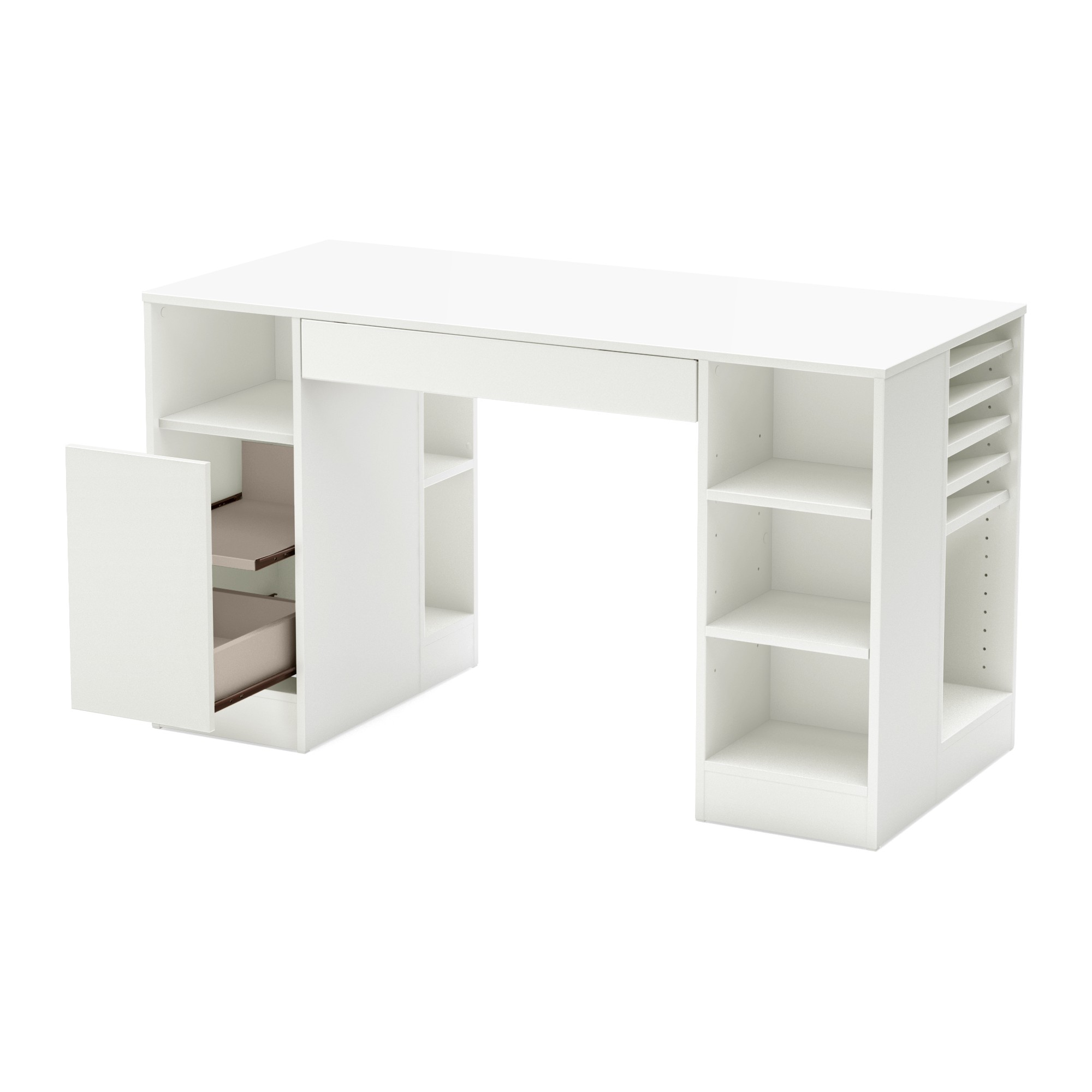 Crea Craft Table Pure White South Shore Craft Table Craft Room Storage Craft Desk