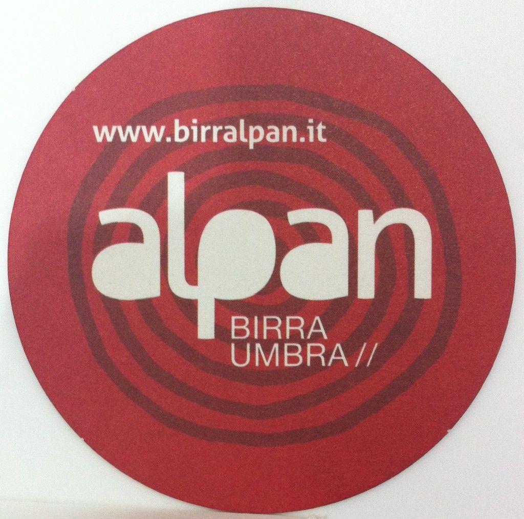 Alpan Birrificio Alpan Terni Italy Beer Coasters Beer Label Beer