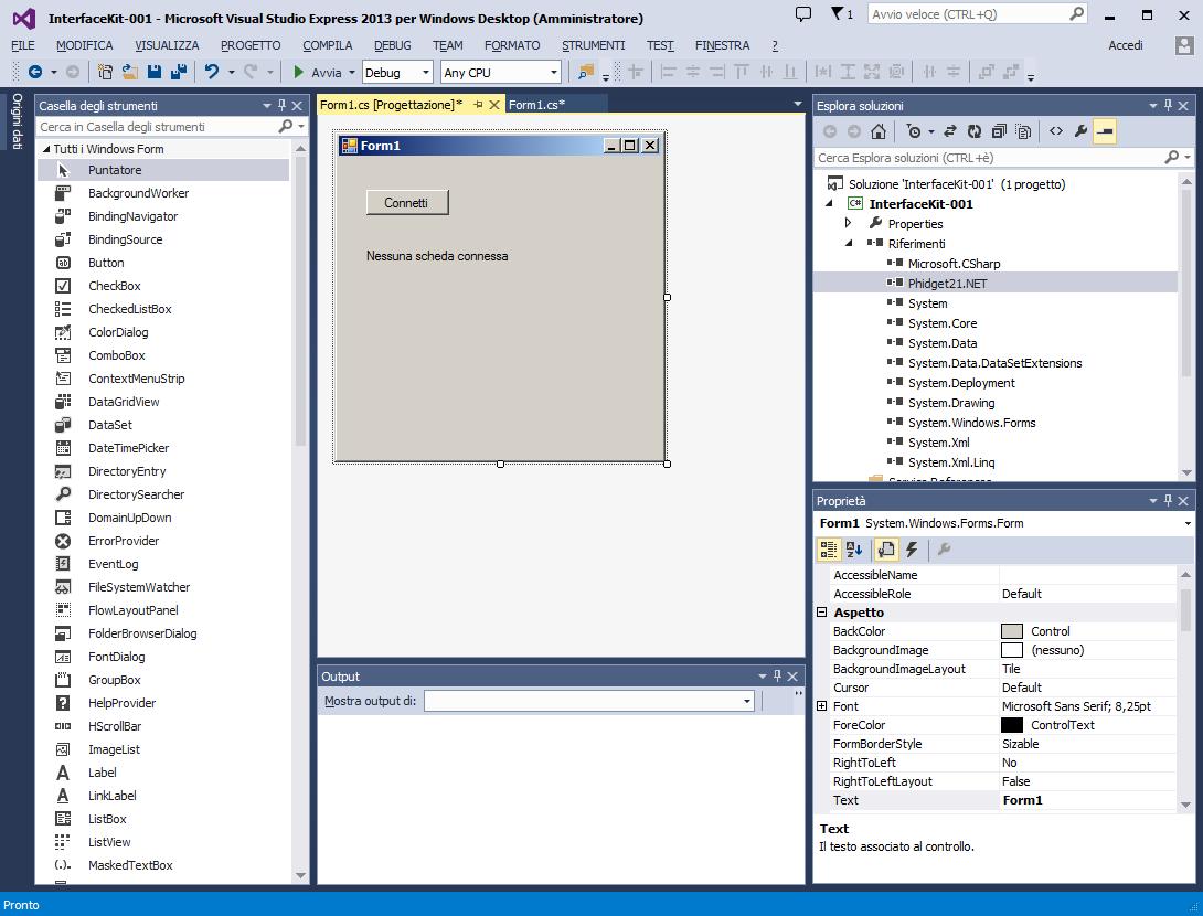 Maxxin tutorial Phidgets Interface kit 888 001