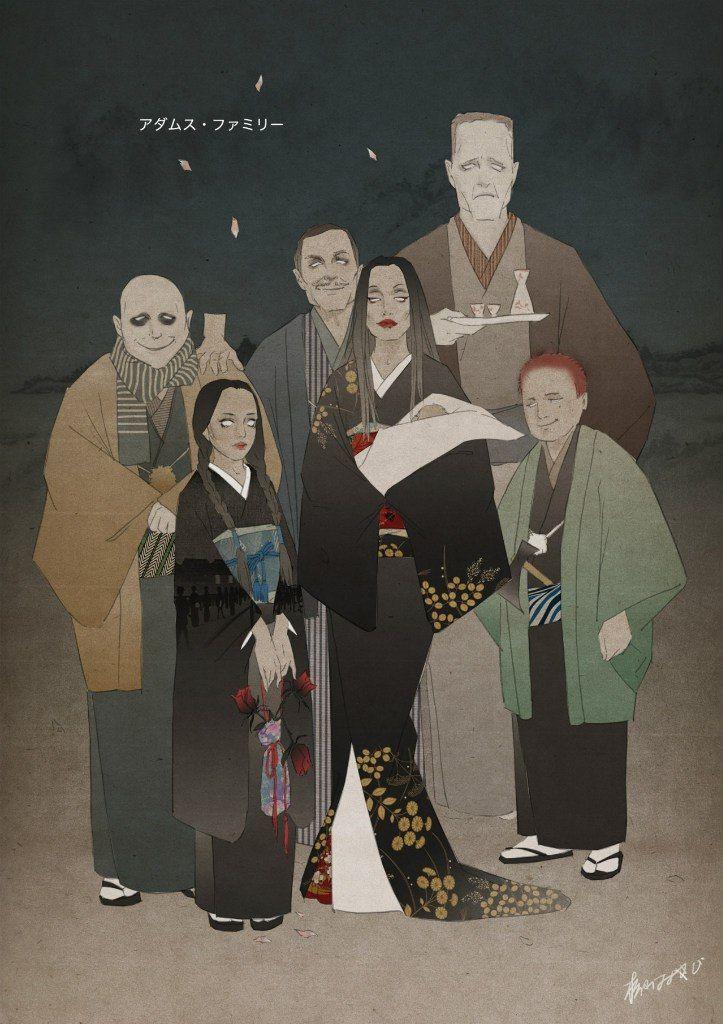 изображение   Семейка аддамс, Иллюстрации и Вампирское ...