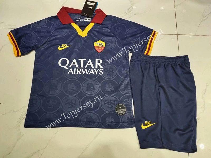 20192020 roma 2nd away royal blue kidyouth soccer