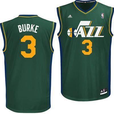 Utah Jazz Adidas NBA Trey Burke  3 Replica Jersey (Green)  da585c847