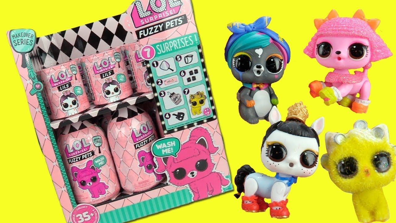 Lol Surprise Fuzzy Pets Lils Doll Box Opening Toy Caboodle Cute Food Drawings Lol Toys For Girls